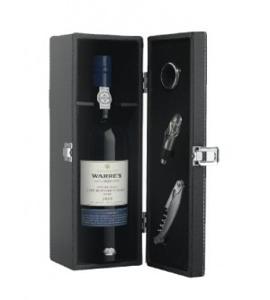 Leather Box with Bottle of Warre's LBV 2000 Port Wine